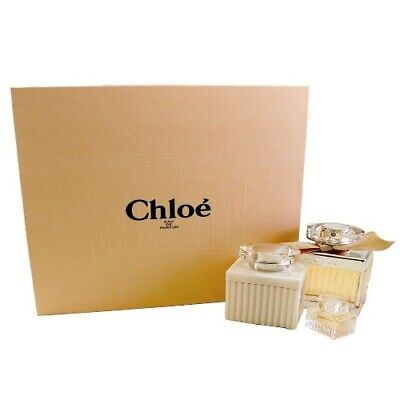 Chloe by Chloe 3pc Gift Set for Women EDP Perfume 2.5 oz + Body Lotion + Mini