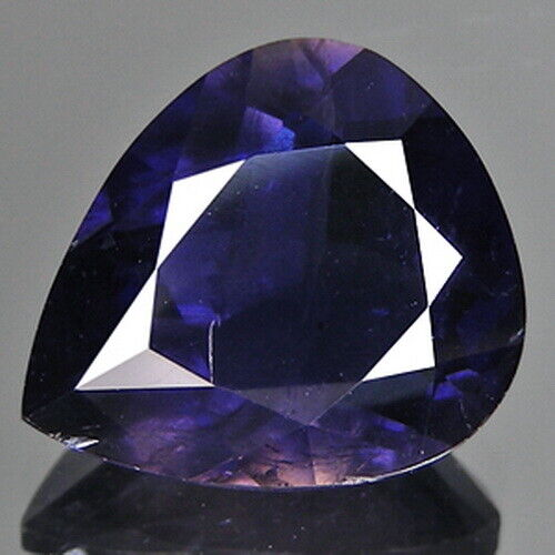 2.83cts Pleasing Pear Blue Natural Iolite Loose Genuine Gemstones Free Shipping