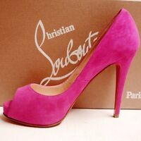 Christian Louboutin Suede Pink Heels size 38