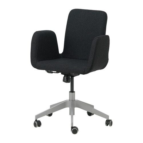 ikea patrik swivel office desk chair in dark grey | in newham