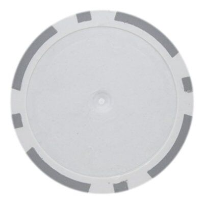 - 8 Stripe Non-Denominated 14g Poker Chips, Gray Clay Composite, 50-pack