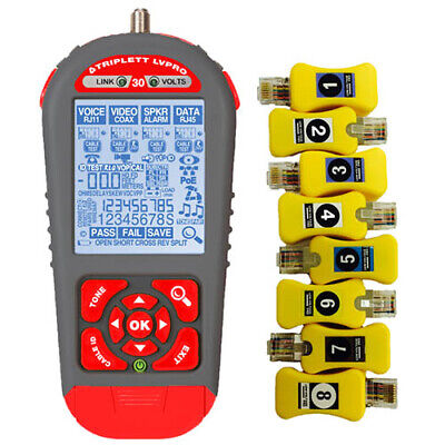 Triplett Lvpro30sr Low Voltage Pro Cable Tester With Smart Remotes