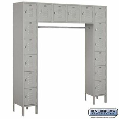 Salsbury 12 Wide Six Tier Box Style Bridge Standard Metal Locker - 16 Box - 18