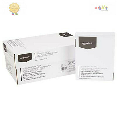 Case Copy Printer Printing Paper 8 12 X 11 Letter Size - 10 Reams 5000 Sheets