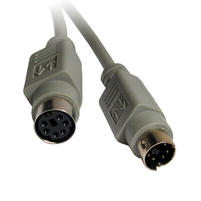(15Ft Mini Din 6pin Male to Female PS/2 PS2 Extension Cable - Keyboard Mouse KVM)