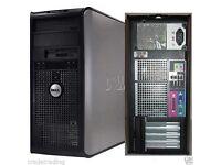 Windows 7 Dell Core 2 Duo 4GB 320GB DVD Desktop PC Computer Tower now in