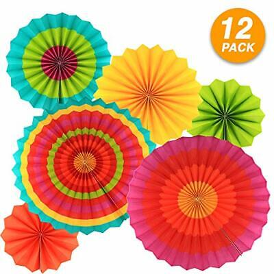 Ram Pro Colorful Hanging Paper Fans Rosettes Party Decorations Fiesta Idea for D - Fiesta Decoration Ideas