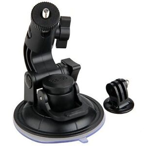 Suction Cup Car Glass Window Mount+ Tripod Adapter for GoPro 1 2 3 Action Camera