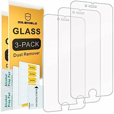 3 PACK Mr Shield For iPhone 6, 6S Tempered Glass Screen Prot