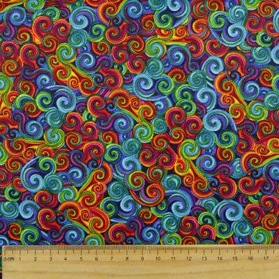 Patchworkstoff Regenbogen Farben bunt klein gemustert Stoff timeless treasures