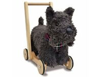 BNIB Luxury Little Bird Told Me Scottie Dog Push Along Walker