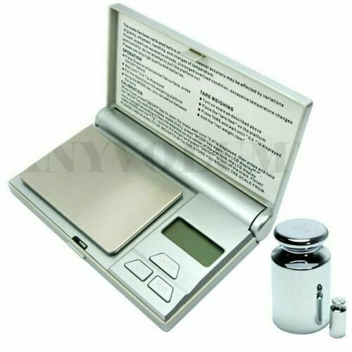 100g x 0.01g Digital Pocket Scale .01g Jewelry Scale with Calibration Weights