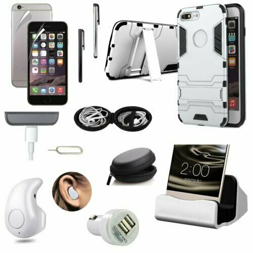 Case+Dock Charger+Bluetooth Earphones+Car Charger Accessory