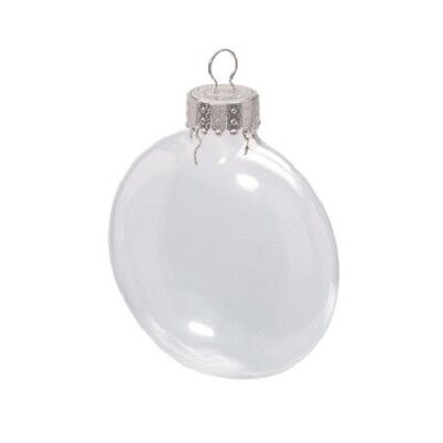 Lot of Clear Glass Christmas Ornaments: Various Shapes Fillable, for crafts - Clear Fillable Christmas Ornaments