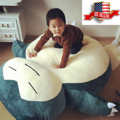 "59"" Pokemon Giant Snorlax Plush Kabigon Doll Bed Zip Cover Case Xmas Gift USA"
