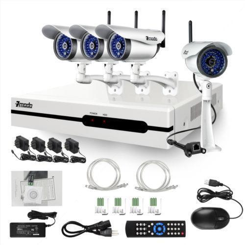 wireless security camera system recorder ebay. Black Bedroom Furniture Sets. Home Design Ideas