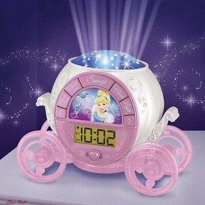 Alarm Clock for Kids Teens Projection Digital Radio Princess Night Light Room