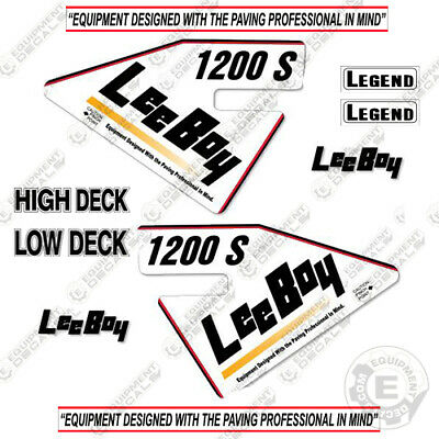 Leeboy 1200s Decal Kit Asphalt Paver Equipment Decals - 7 Year Vinyl