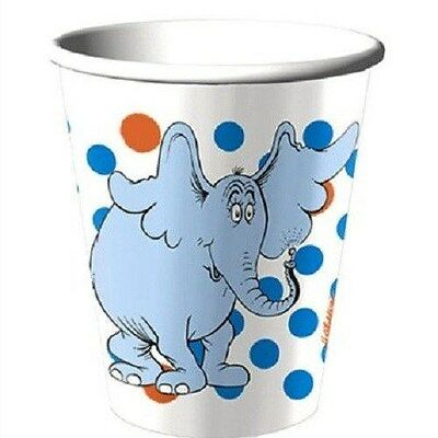 ~HORTON HEARS A WHO Dr SEUSS ~8- PAPER CUPS PARTY SUPPLIES  - Dr Who Party Supplies