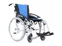 FOR SALE G-Lite Pro Folding Lightweight Self-Propelled Aluminium Wheelchair plus accessories