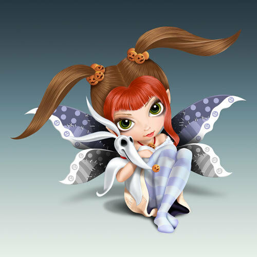 Jasmine Becket-Griffith JBG NIGHTMARE BEFORE CHRISTMAS – ZERO Fairy Figurine NEW