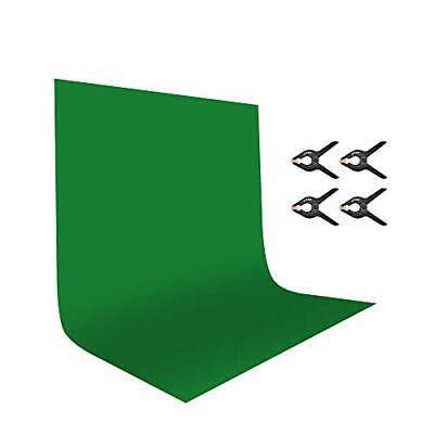 UTEBIT 6x9 Green Screen Polyester Backdrop Wrinkle Free Solid Color 1.8 x 2.8M  Free Green Background