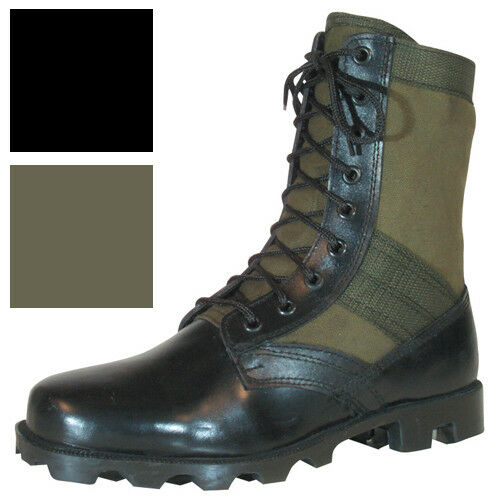 Vietnam Jungle Boots, 8″ Leather / Canvas, Panama Sole, Military Army Tactical Boots