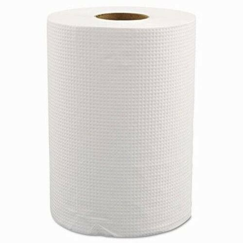 """Morcon Hardwound Roll Towels, 8"""" x 350ft, White, 12 Rolls (MORW12350)"""