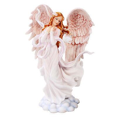 Lovely Seraphim Angel of Wisdom Celestial Heavenly Seraph Figurine Statue w Dove