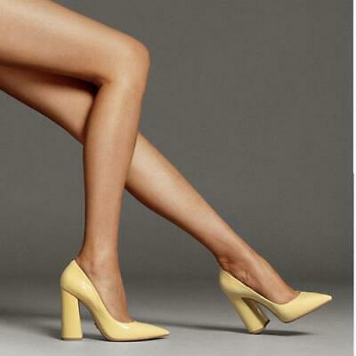 Details about  /Trendy Ladies Celebrity Gift Block Heel Slip On Shoes Casual Pointy Toe Pumps