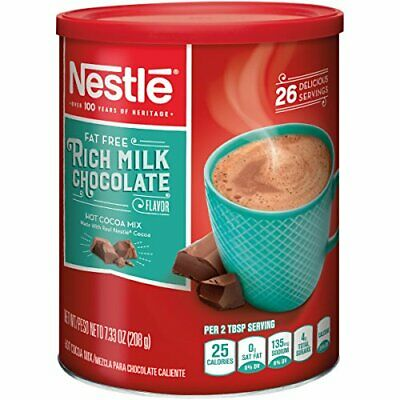 Nestle Hot Cocoa Mix, Fat Free, 7.33-Ounce Canisters (Pack of (Chocolate Fat Free Coffee)