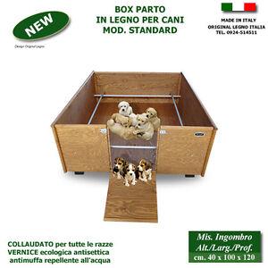 Cassa parto box in legno per cani cucce scatola cuccioli for Cucce per cani in offerta