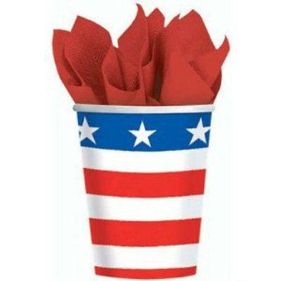 Stars & Stripes Patriotic Cups (8) - Patriotic Party Supplies