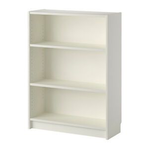 Two new 1/2 height white ikea billy book shelves! (No assembly!)