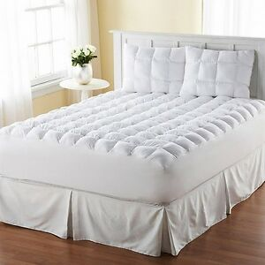 New Cotton Mattress Topper Padded Bedding Cover Twin Full ...