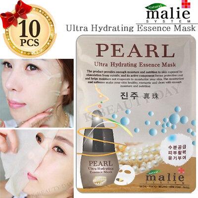 Facial Mask Sheet Pearl 10pcs / Ultra Hydrating Essence Moisture Mask Sheet