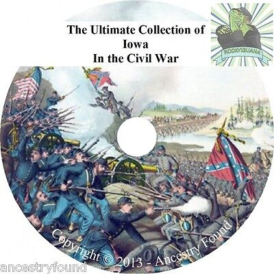 Iowa Civil War Books - History & Genealogy - 26 Books on DVD