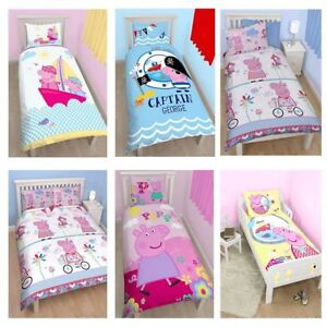 Peppa pig housse de couette ensembles junior simple for Housse de couette junior