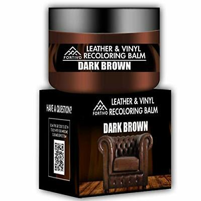 Dark Brown Leather Recoloring Balm - Leather Repair Kits for Couches - Leather