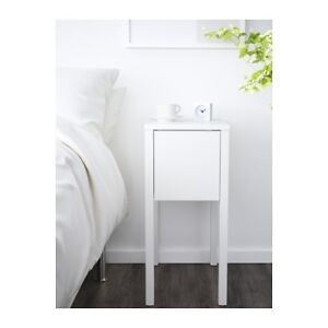 2 IKEA Nordli Night Stands - 1 has wireless charging station