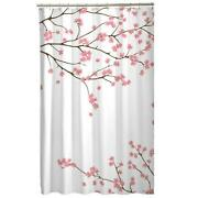 Pink Fabric Shower Curtain