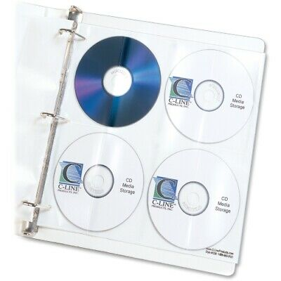 C-line Two-sided Cddvd Refill Pages For Ring Binder Kit 5pack Pk - Cli61948