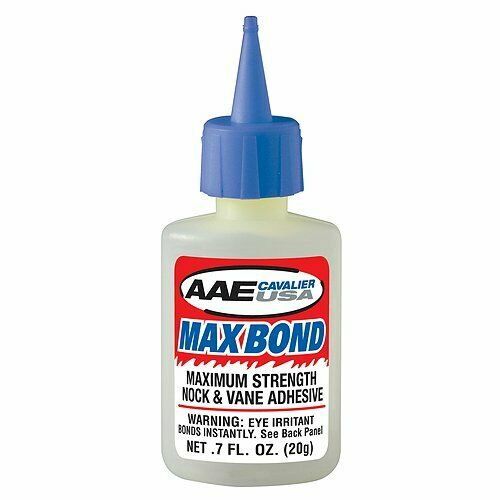 Arrow Vane Glue Vanes .7oz Max Bond Glue Fletches Arizona Archery Enterprises