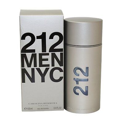 212 by Carolina Herrera 3.4 oz EDT Cologne for Men New In Box
