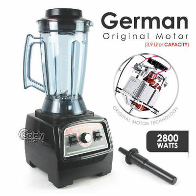 German Motor Heavy Duty Commercial Blender 3.9L 2800W Food Processor Mixer