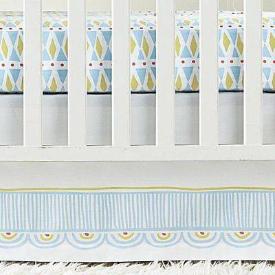 Serena Lily Nursery (Serena And Lily CIRCUS Crib Skirt_Parade Collection_Nursery Blue_Discontinued )