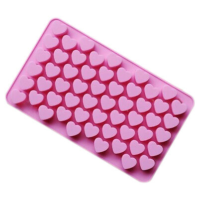 Heart Mould - 1PC Mini 55 Heart Silicone Mold For Candy Chocolate Cake Soap Mould Baking E6Z5