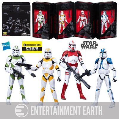 Star Wars The Black Series Clone Troopers Of Order 66 Ee Exclusive Set 6 Inches