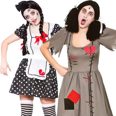 ancy Dress Broken Voodoo Dolly Adults Halloween Costumes  (Freaky Dolls Halloween)