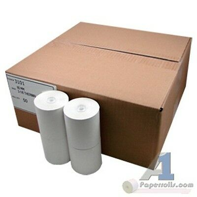 3-18 X 230 Thermal Receipt Cash Register Paper Case Of 50 Pos Rolls Bpa Free
